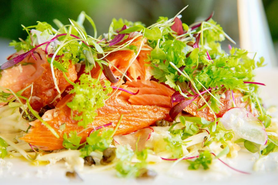 Jason's Hot Smoked Ocean Trout Salad