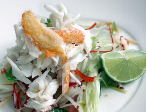 Spanner Crab Salad with Sweet and Sour Dressing
